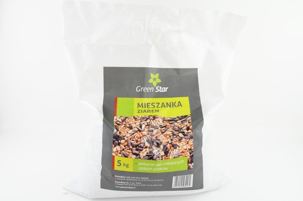 Pokarm dla ptaków – mieszanka ziaren – 5 kg | Green Star